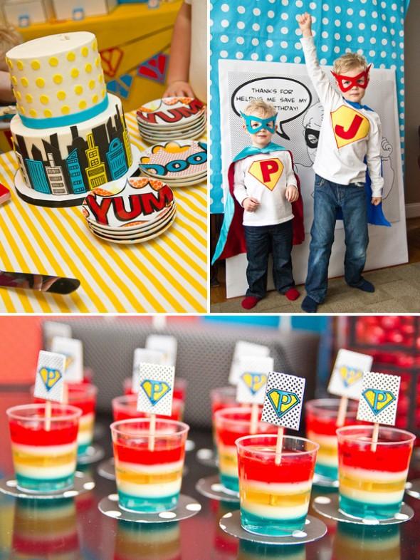 Børnefødselsdag Inspiration tema med superhelte til truttens børnefødselsdag - it's fashion, baby!