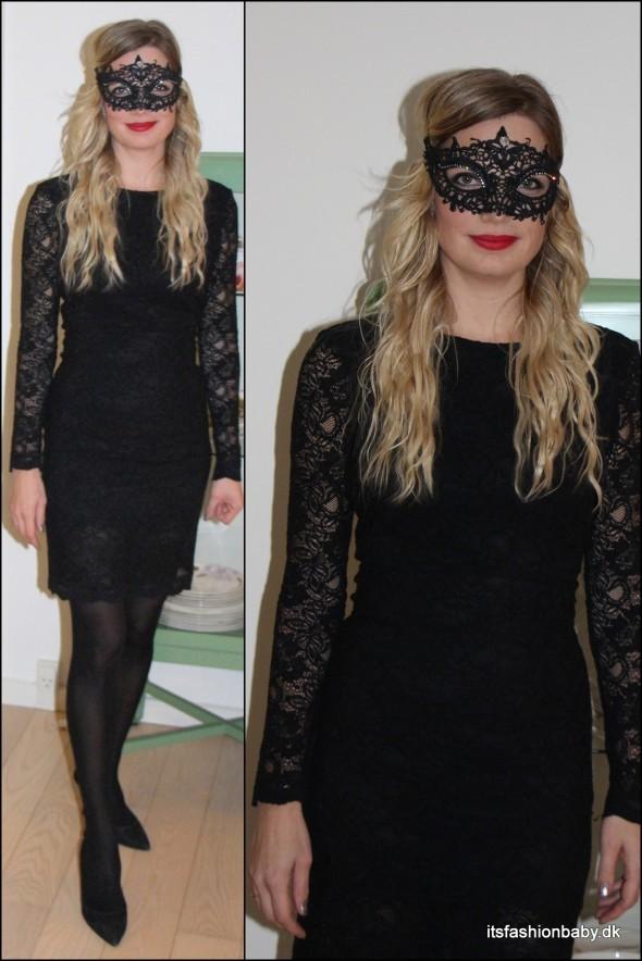 camellia lace sort blondekjole fra ganni