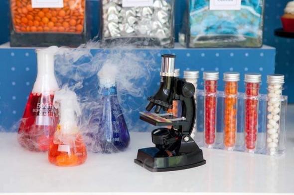 temafest laboratorium og videnskabsmand til børnefødselsdag