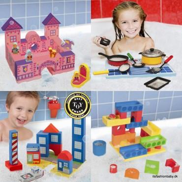 Bathblocks er sjovt legetøj til børn i badet hvor de kan bygge med klodser der fylder på vand.
