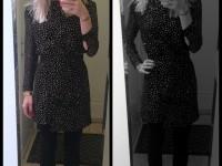 Outfit med min nye guldglitrende kjole