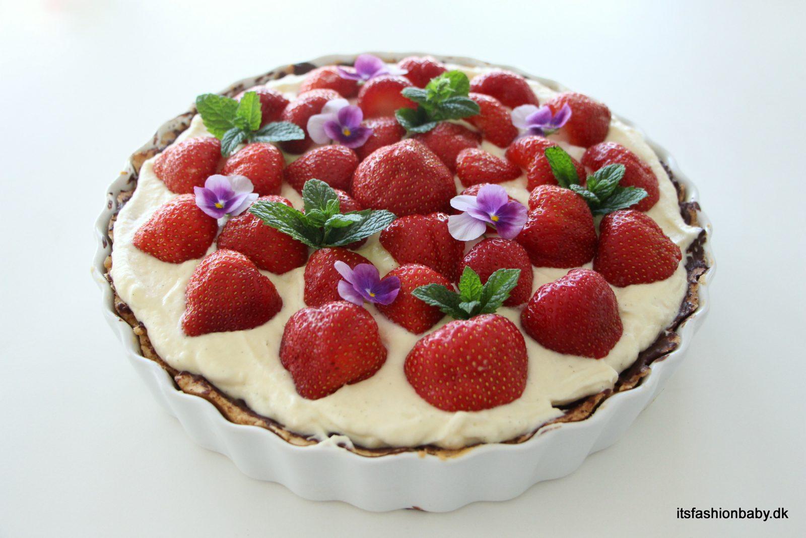 Alletiders Kogebog Jordbærtærte jordbærtærte opskrift