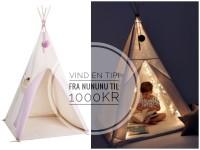 Vind årets julegave - en NunuNU tipi til 1000 kr