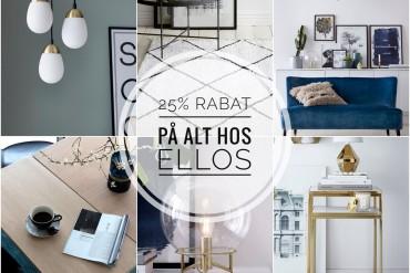 Rabatkode Ellos 2017 på møbler