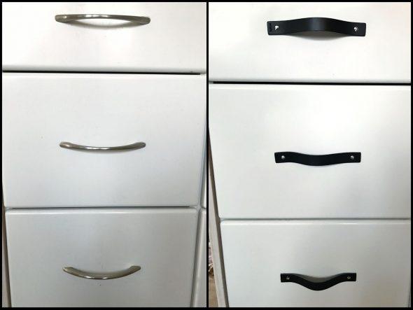 læderhåndtag til køkkenlåger