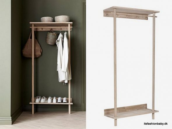 Denver Ellos Entreskab og garderobemøbel er et billigt og flot alternativ til Töjbox fra Woud