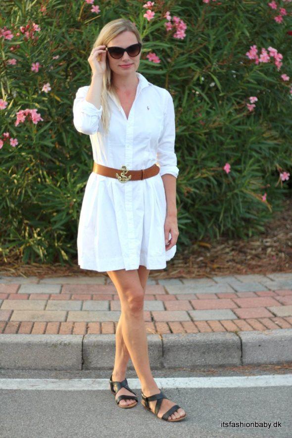 Hvid Ralph Lauren skjortekjole