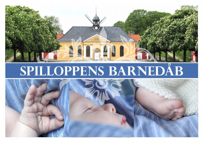 Hjemmelavet invitation til barnedåb