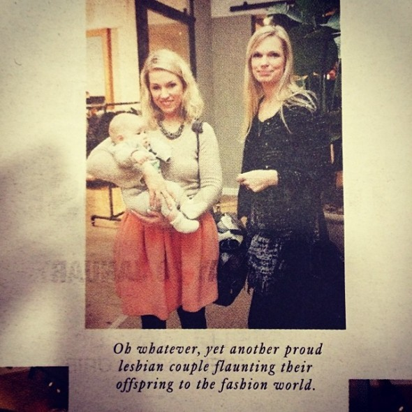 Manja, Baby A og jeg blev også fotograferet til Dansk Daily, som outede vores mørkeste hemmelighed ;) - resten af billederne på siden var også ledsaget af særdeles sarkastiske tekster :D