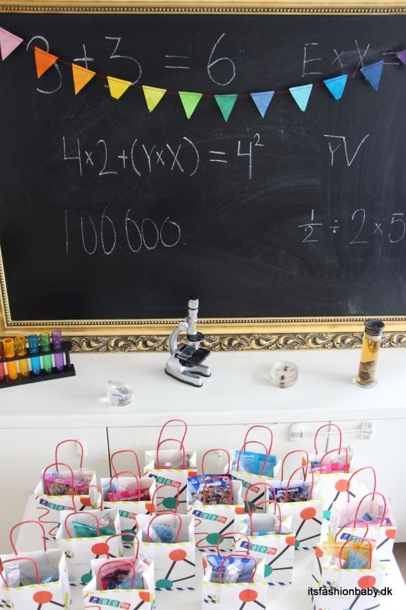 Goodiebabgs og godteposer til børnefødselsdag i børnehaven