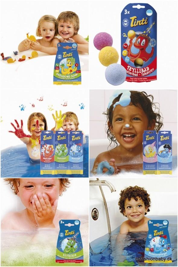 Legetøj til bad til børn tinti maling og farve til badekarret