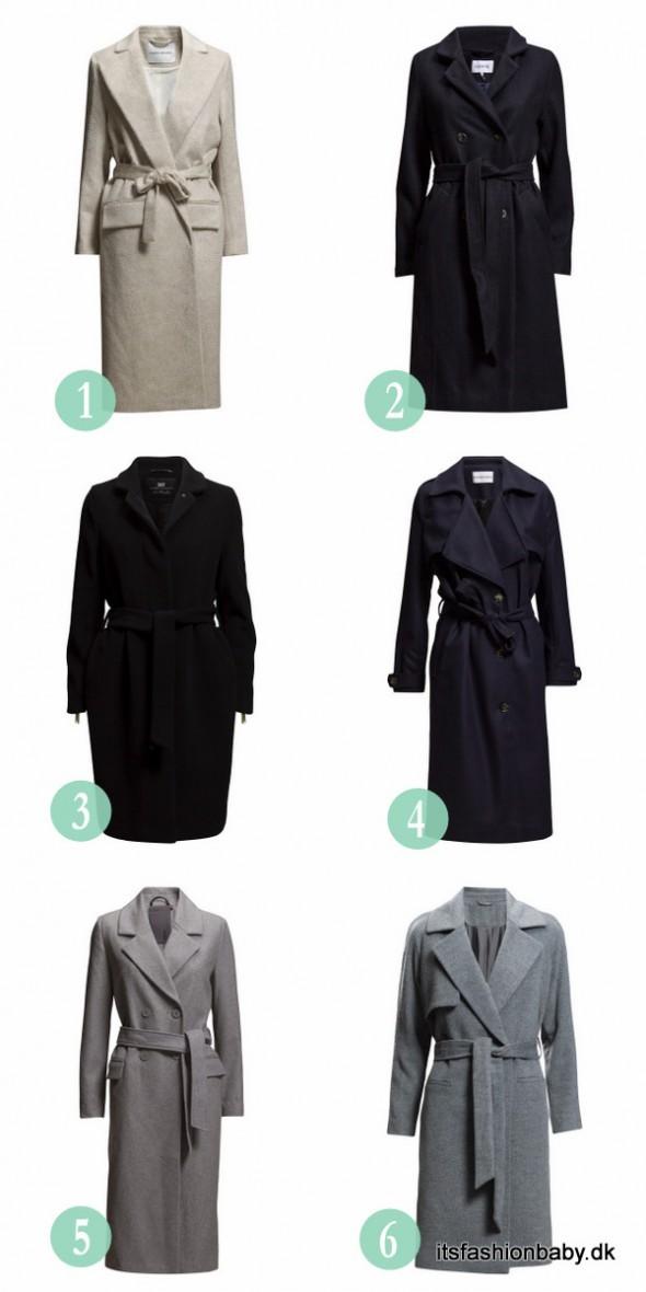 Klassiske uldfrakker til vinter 2015