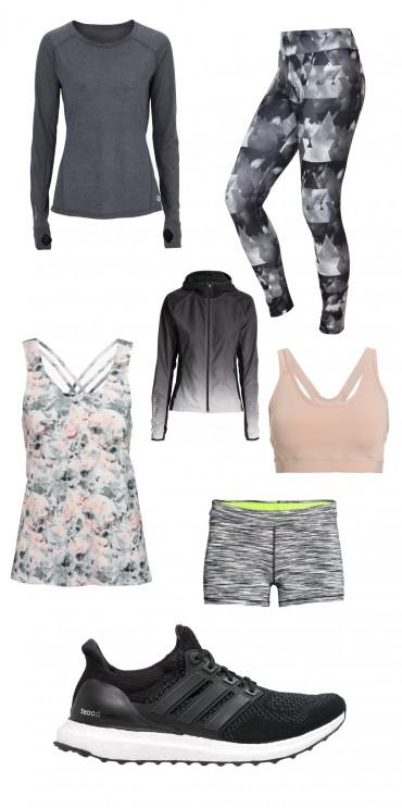 Flot og lækkert træningstøj og tøj til motion og fitness