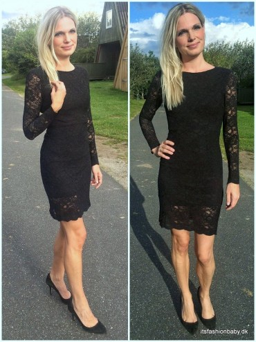 Ganni Ayame Lace little black dress