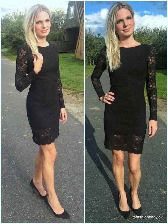 Ganni Ayame Lace little black dress