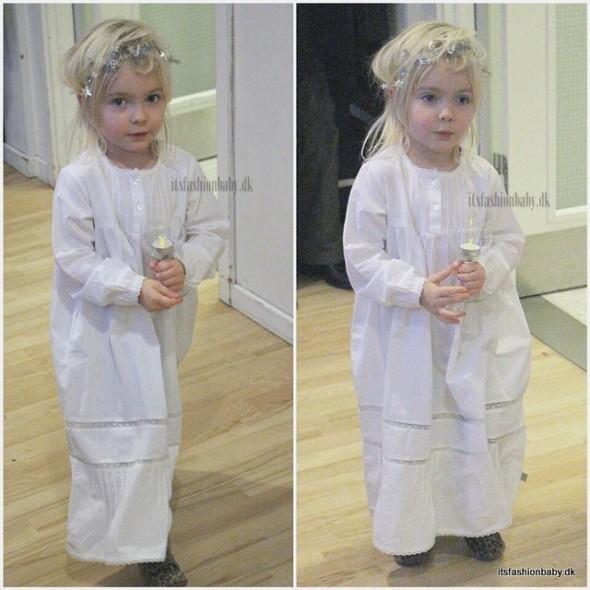 Luciakjole - kjole til luciaoptog børn