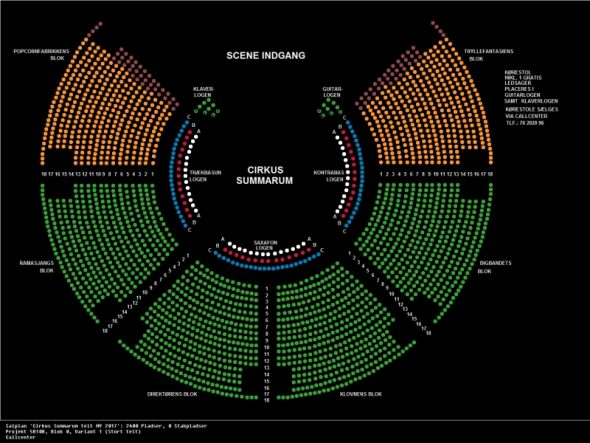 Billetsalg og oversigt over pladser til cirkus summarum 2017