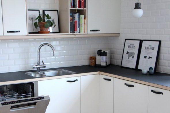 Udskiftning af gamlegreb i dit køkken til nye flotte lædergreb fra byRavn