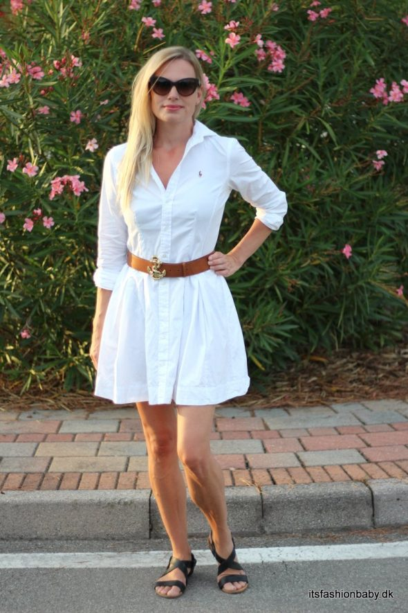 Hvid ralph lauren kjole