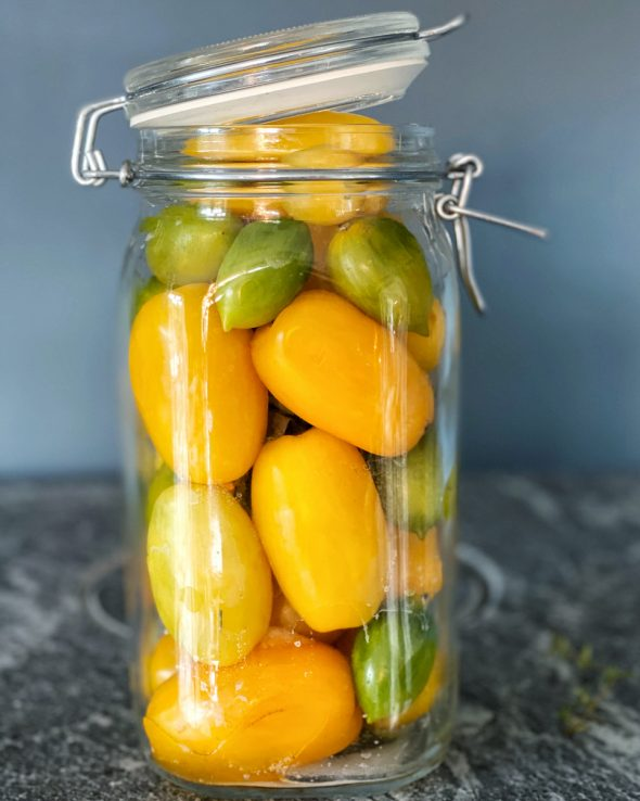henkogte tomater opbevaring